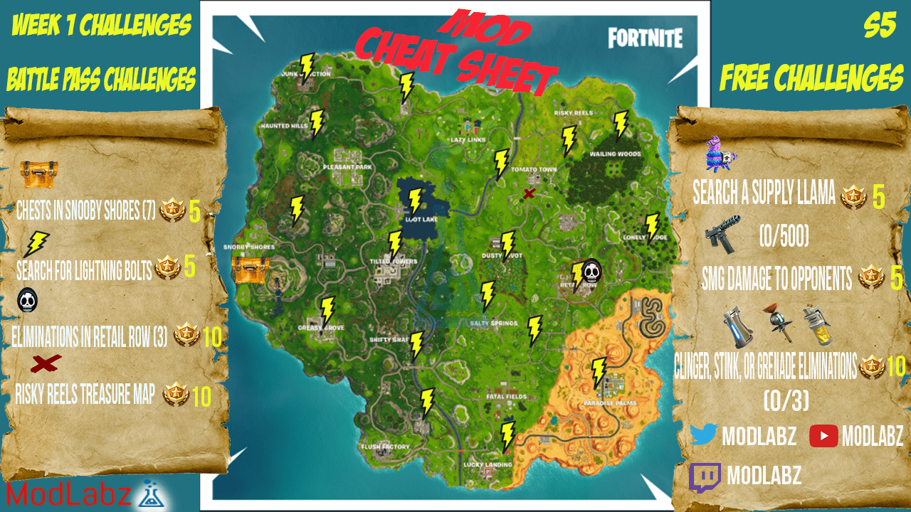 rc hobbys with Mod Cheat Sheet Guide Fortnite Battle Royale Season 5 Week 1 Challenges on 32822719045 as well Sony Xperia Z5 Premium besides 151624351429 further Mini Moto 50cc Mini Racing Motorbike as well Container Ship Model.