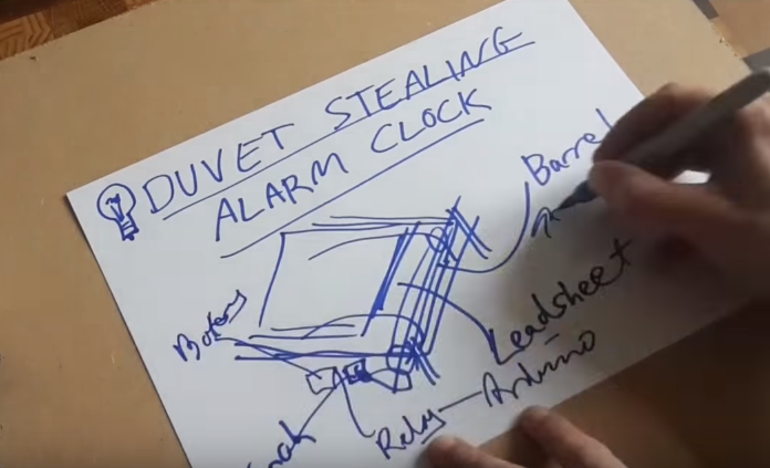 Check out the alarm clock that will steal the covers right