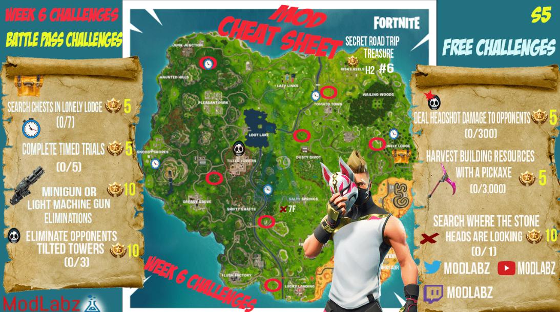Mod Cheat Sheet Guide For Fortnite Battle Royale Season 5
